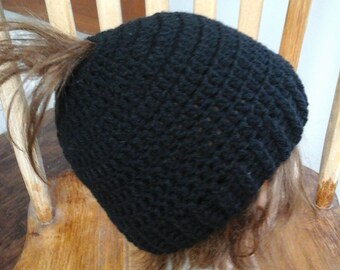 Messy Bun Hat, Ponytail Hat Teen/Adult Size