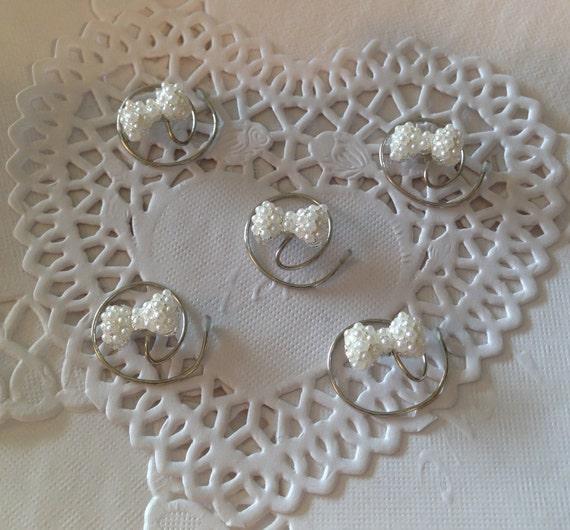 Pearl Bows Hair Swirls Hair Spins Twists Coils Spirals Spin Pins Brides Bridesmaids Flower Girls