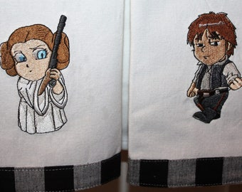 Han Solo and Leia Kitchen Towels Set