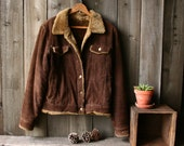 Corduroy Jacket Faux Fur Lined Bohemian Brown Corduroy Coat 90s imitates 70s Size M Vintage From Nowvintage on Etsy