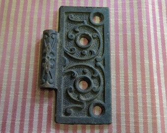 Vintage Eastlake Door Hinge - Eastlake Hardware - Cast Iron Hardware Hinge - REDuCED