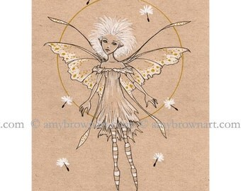 LIMITED EDITION Dandelion fairy 8.5x11 PRINT by Amy Brown