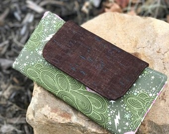 Slimline Wallet in Tula Pink Nightshade + cork | Wallet | Billfold | Card Holder
