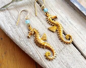Starfish And Amazonite Earrings