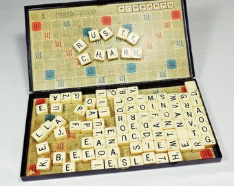 Vintage Travel Scrabble Games Complete with Instructions Circa 1957