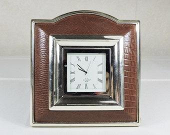 Vintage Desk Clock made by Lenox