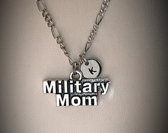 Personalized Military Mom necklace * Military Mom charm * charm necklace * Personalized * initial nnecklace * monogram