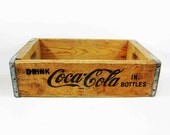 Vintage Wooden Coca Cola Crate From Los Angeles Bottler. Circa 1960's.