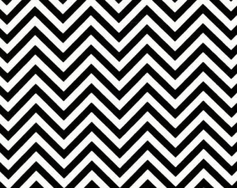 Robert Kaufman Fabric Remix Chevron Stripe Black White Ann Kelle
