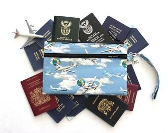 Family Travel Wallet - Family Passport Holder - Passport Case - Passport Wallet - Travel Organizer - Travel Gift for Him - Passport Cover