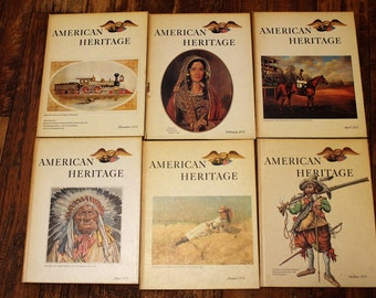American Heritage Magazine, Hardback, Vol. XXII Nos. 1 through 6, 1971
