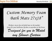 """SALE Custom Memory Foam Bath Mat -Plush Memory Foam, 27x18"""""""