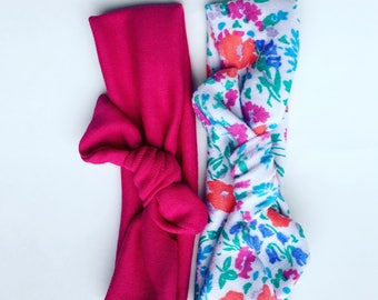 Floral wrap headbands (pick 2)