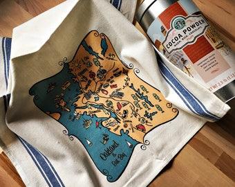 Oakland Map Kitchen/Tea Towel