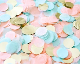 Peach Mint & Gold Confetti Mix