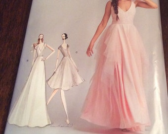 Simplicity 8289 Dress in Two Lengths and Gown Pattern  Size 12-20 New-Uncut