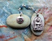 The Loving Kindness Mala in Silver and Blue Aquamarine. A fundraiser for Alzheimers Research