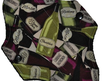 Liner Core- Wine Bottles Reusable Cloth Mini Pad- 7.5 Inches (19 cm)