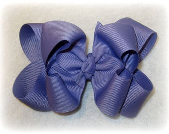 Girls hair bows, Double layer bow, Girls Hairbows, Tropic Lilac Bow, Large hairbows, big bow, 4 5 inch hairbows, stacked bow, Purple Bows