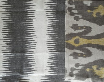 Gray Stripe Pillow Cover, Decorative Pillow, Throw Pillow, Lumbar Pillow, Ikat Print, 12x18 inch, Home Decor, Home Furnishing