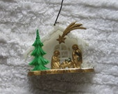 Vintage Plastic Nativity Scene/Late 40s, Early 50s/Made in West Germany/2.5 x 2 in