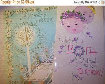 SALE- 1960s Birthday Cards