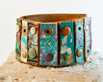 Turquoise Jewelry Leather Jewelry Bracelet Southwest