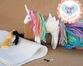 Unicorn Sewing Kit * Make Your Own Stuffed Unicorn * DIY Craft Kit Felt Animal Pattern * Handmade Alicorn, Pegasus, Unicorn Plush