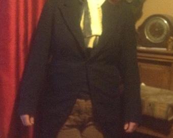 Steampunk Vintage Eton School Boys Tailcoat, suit UK size 10 to14