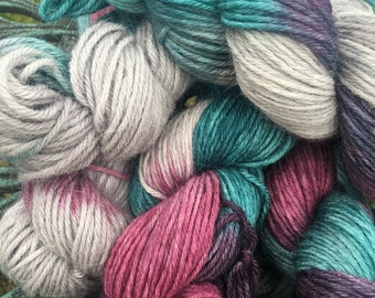 Alpaca Yarn, 100% Superfine Alpaca, DK Weight, Paca-Paints, Seahorse Parade