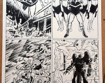 Captain Victory Page X by Michel Fiffe, Original Comics Art