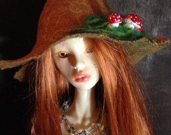 Mushroom Moss Hat for BJD Dolls