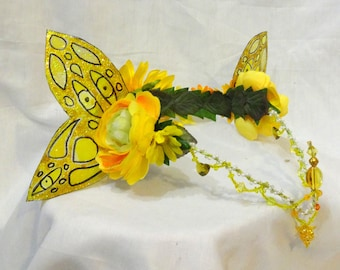 Butter Yellow Fairy Crown