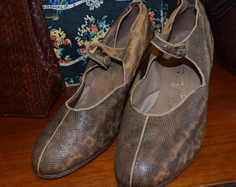 1920's Snakeskin Shoes