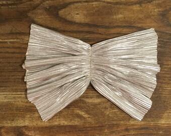 Vintage Style Metallic Bow on a Pinback