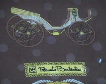 33 inch square  Renato Balestra  scarf wrap  designer made