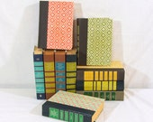 Readers Digest Condensed Books, Decorative Covers, 10 Books For Crafts or Display 1970s