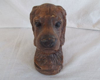 Vintage Brown Dog BookEnd