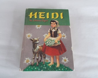 Vintage Heidi Hardcover Book For Crafts
