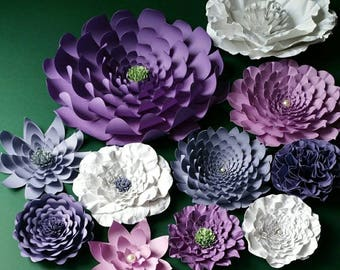 Large Paper Flowers Perfect for a Nursery in the Colors of Your Choice