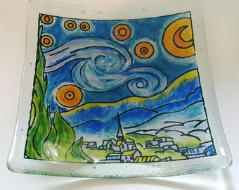 Recycled Glass Starry Starry Night