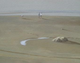 Beach Walk - Fine Art Canvas Print, Cape Cod, beach, seashore, ocean, cottage decor, wall art