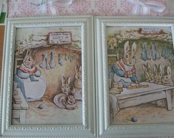 Framed Peter Rabbit prints by Beatrix Potter