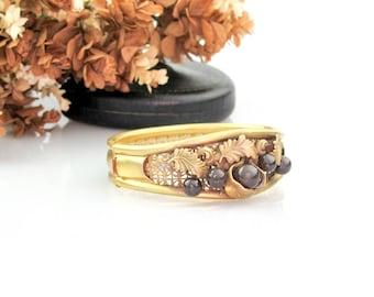 Antique Edwardian Bracelet | Antique Rose Gold Filled Bangle Bracelet | Antique Filigree Bracelet
