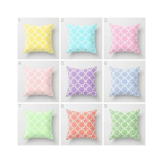 OUTDOOR Throw Pillow . Patio Cushion . Outdoor Pillow . Outside Pillow . Modern Pillow . Patio Cushion . Pink Coral Aqua 16 18 20 inch