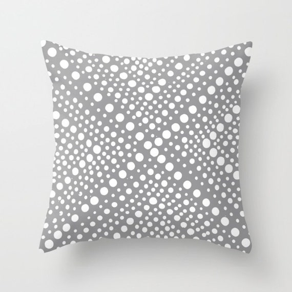 OUTDOOR Throw Pillow - Gray Outdoor Pillow White Patio Cushion - Modern Geometric Outside Pillow - Outdoor Pillow 16 18 20 inch
