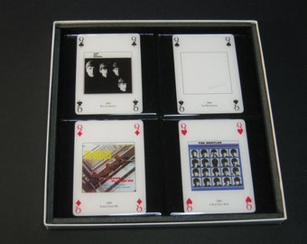The Beatles ltd. Edition Collector Rock Playing Card Drink Coasters (4 Coasters)