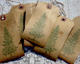 Primitive Christmas Tree Tags, Country Christmas Tree Tags