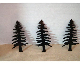 Rusty Metal Pine Tree Cutouts/Set of 3 /Craft Supplies*