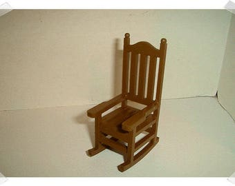 Wooden Rocking Chair/Brown Color/ Single / Minis/ Craft Supplies*